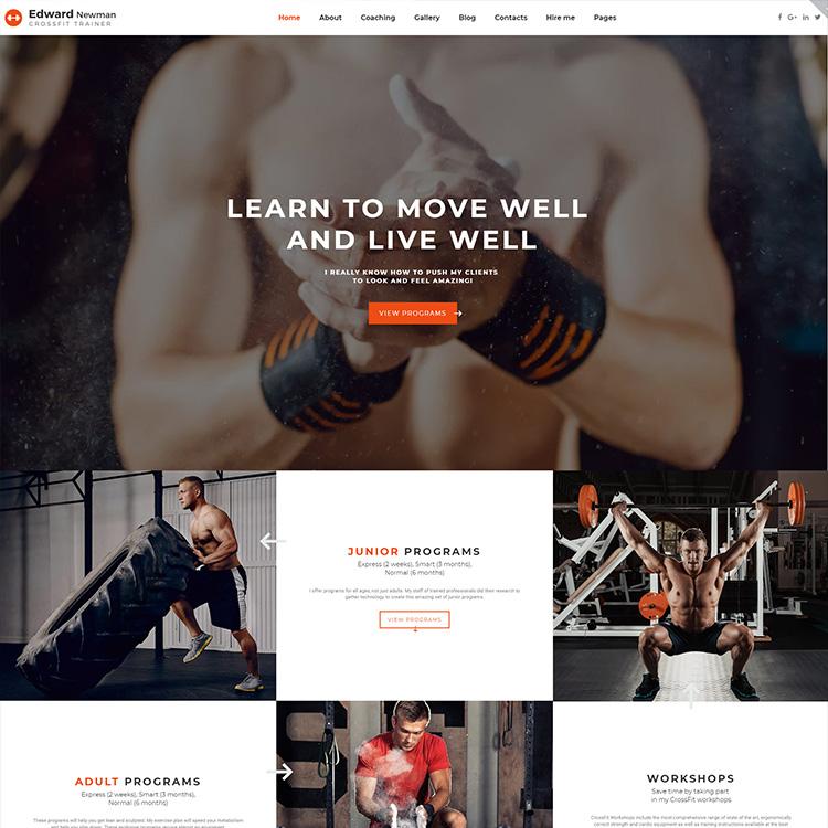 Responsive Fitness Website Design