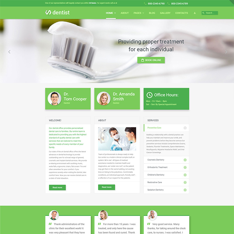 Dentist Website Design - Responsive - SEO Friendly 1