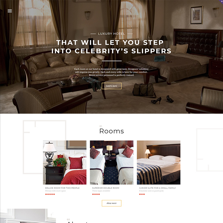 Hospitality Focused Website Design - Responsive - SEO Friendly