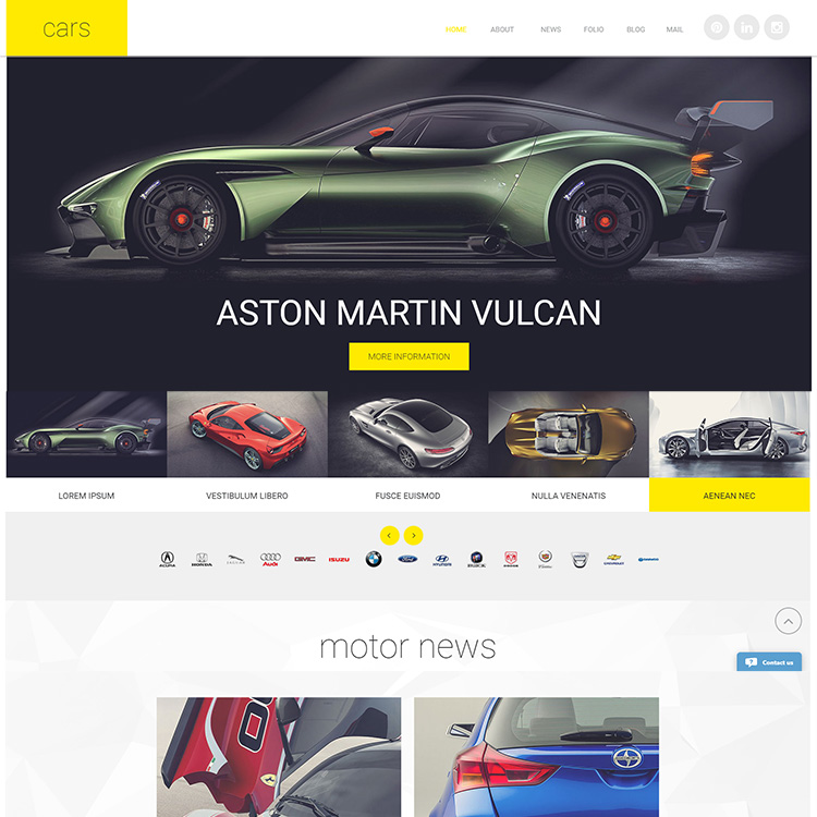 Car Design Gallery Mobile Friendly Responsive Website