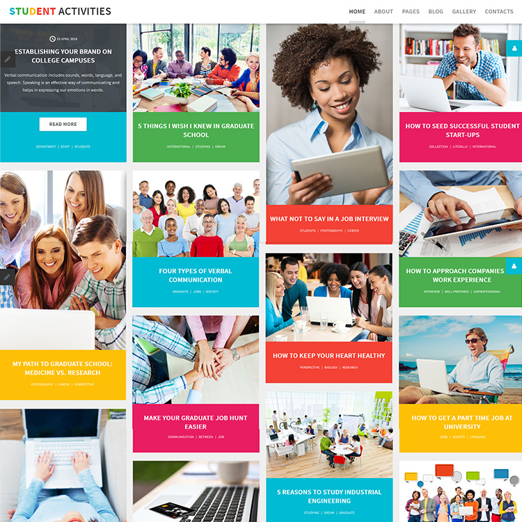 Education Focused Website Design