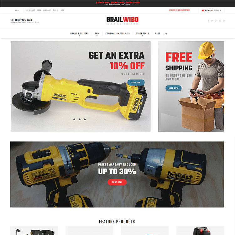 Hardware Ecommerce Mobile Responsive Website Design