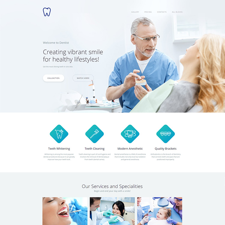 Medical Focused Mobile Friendly Website
