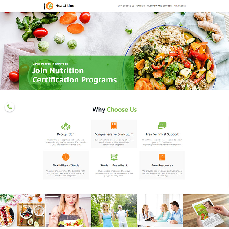 Nutrition Education Responsive Website Design