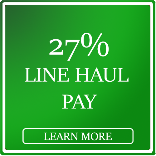 Drivers get 27% line haul pay